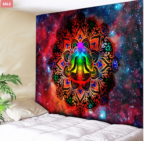 Starry Night Galaxy Décor Psychedelic Tapestry