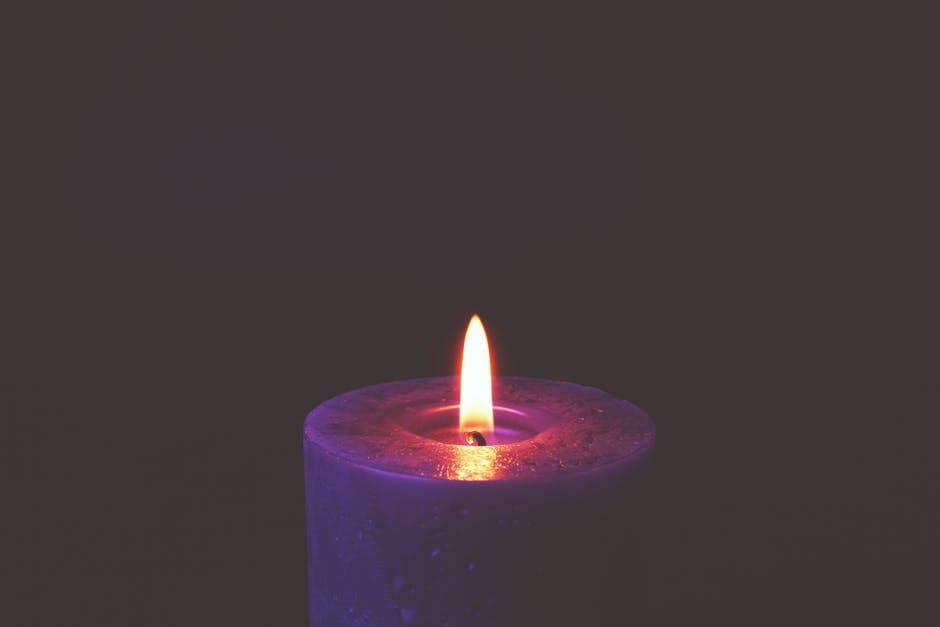 A candle in it